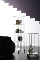 contemporary shelf with casters by Bruno Munari VADEMECUM Robots