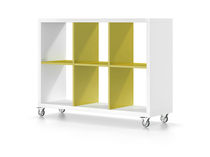 contemporary shelf with casters MILENIUM PLUS Baixmoduls