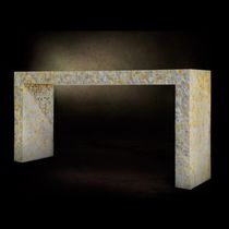 contemporary sideboard table (mother of pearl finish) ANACAPRI Livingstonehome by Stefano Agosta s.r.l.