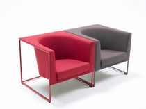 contemporary sled base armchair SIT DOWN by Burkhard Vogtherr Arco Contemporary Furniture