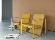 contemporary sled base armchair SPINE by Burkhard Vogtherr Arco Contemporary Furniture