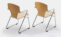contemporary sled base chair EGOA by Josep Mora STUA
