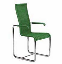 contemporary sled base chair with armrests D 25 Tecta