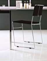 contemporary sled base stacking chair DELFINA by Enzo Mari Robots