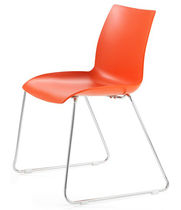 contemporary sled base stacking chair ZODIAC ISA International