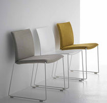 contemporary sled base stacking chair M1 by P.Cazzaniga MDF Italia