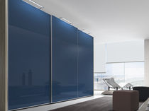 contemporary sliding door wardrobe in glass ESENZIA Baixmoduls