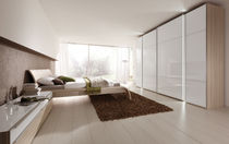 contemporary sliding door wardrobe in glass MARCATO Nolte