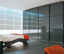 contemporary sliding door wardrobe in lacquered glass KYOTO mazzali spa