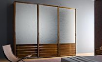 contemporary sliding door wardrobe in satin glass 105 LE FABLIER