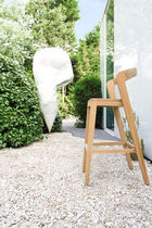 contemporary solid wood bar chair PLAY by Alain Berteau WILDSPIRIT