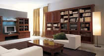 contemporary solid wood bookcase I CACCIA ALLA VOLPE by P. Pradella  MASSON MATIEE