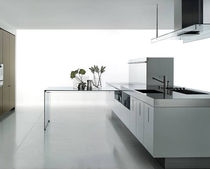 contemporary solid wood / corian kitchen ZONE by Piero Lissoni Boffi