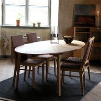 contemporary solid wood dining table HEJDE G.A.D