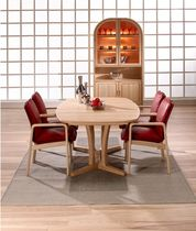 contemporary solid wood dining table 9243B ASH dyrlund
