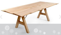 contemporary solid wood dining table WAVE: RNM 256W by Salih Teskeredzic  rukotvorine