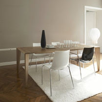 contemporary solid wood dining table TRAPEZE by Evangelos Vasileiou Ligne Roset France