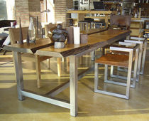 contemporary solid wood dining table DISECTION ICI ET LA