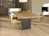 contemporary solid wood dining table TIX Mobimex