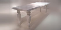 contemporary solid wood dining table TABLE SCULPTURE Fuoriluogo Design Milano