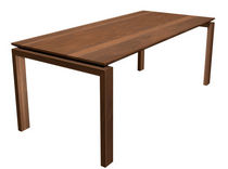 contemporary solid wood dining table BRIDGE by Theo Beunen Lourens Fisher