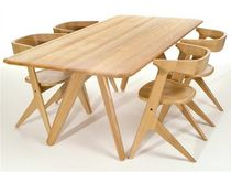 contemporary solid wood dining table SLAB: WOT03NA Tom Dixon