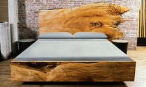 contemporary solid wood double bed 0051 JOHN HOUSHMAND