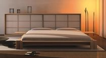 contemporary solid wood double bed KYOTO Cinius