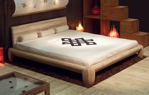 contemporary solid wood double bed MARU Cinius