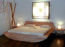 contemporary solid wood double bed ONDA Cinius