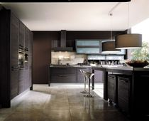 contemporary solid wood / glass kitchen URALIA GRATTAROLA