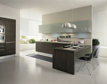 contemporary solid wood / glass kitchen AURA GRATTAROLA