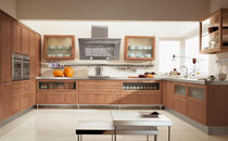 contemporary solid wood / glass kitchen FOSCA CUCINE LUBE