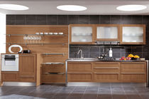 contemporary solid wood / glass kitchen GAIA  CUCINE LUBE