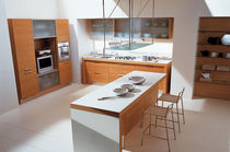 contemporary solid wood / glass kitchen MAURA  CUCINE LUBE
