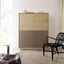 contemporary solid wood high sideboard BASIC: T350 by Studio expormim expormim