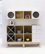 contemporary solid wood high sideboard ANNE HORREDS