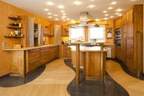 contemporary solid wood kitchen (cherrywood) Freiform Pfister M&ouml;belwerkstatt