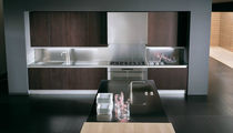 contemporary solid wood kitchen (oak) CONTINUA W by Paolo Nava & Fabio Casiraghii BINOVA S.p.A.