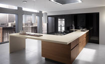 contemporary solid wood kitchen (walnut) ELEKTRA by Pietro Arosio ERNESTOMEDA