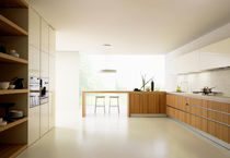 contemporary solid wood kitchen (walnut) K_GOCCIA MESON'S