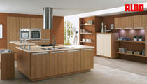 contemporary solid wood kitchen (walnut) ALNOLOOK ALNO