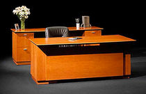 contemporary solid wood office desk GEMINI Halcon