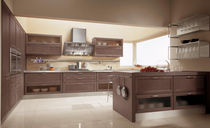 contemporary solid wood / stainless steel kitchen FOSCA CUCINE LUBE