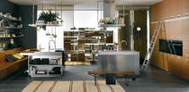 contemporary solid wood / stainless steel kitchen ITALIA: COMPOSITION 2 by Antonio Citterio Arclinea