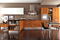 contemporary solid wood / stainless steel kitchen GEORGIA  CUCINE LUBE