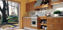 contemporary solid wood / stainless steel kitchen NATURASIA by Centro Stile GeD  GeD cucine