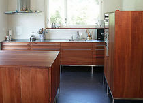 contemporary solid wood / stainless steel kitchen OREGANO WohnGeist AG