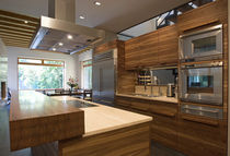 contemporary solid wood / stainless steel kitchen  LUGI