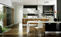 contemporary solid wood / stainless steel kitchen ALEXIA 03 Gory Cucine